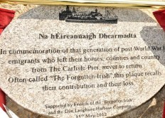 Forgotten Irish plaque