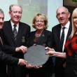 Mitchell O'Connor presents award to Dun Laoghaire Golf Club