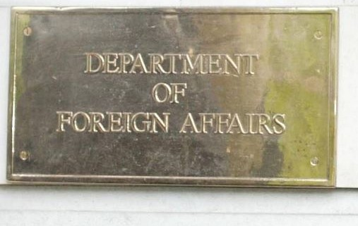 Department of Foreign Affairs Plaque